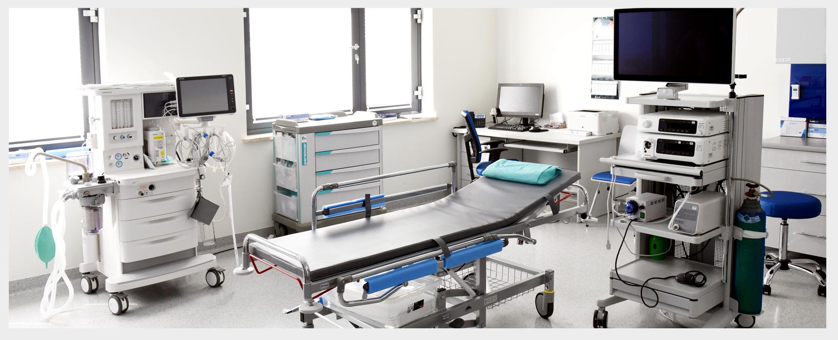 Wnętrze pracowni endoskopii przy ul. Klaudyny 26 B