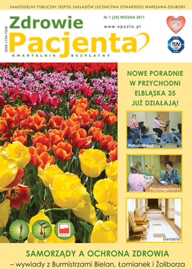 Wydanie kwartalnika Zdrowie Pacjenta wiosna 2011 roku