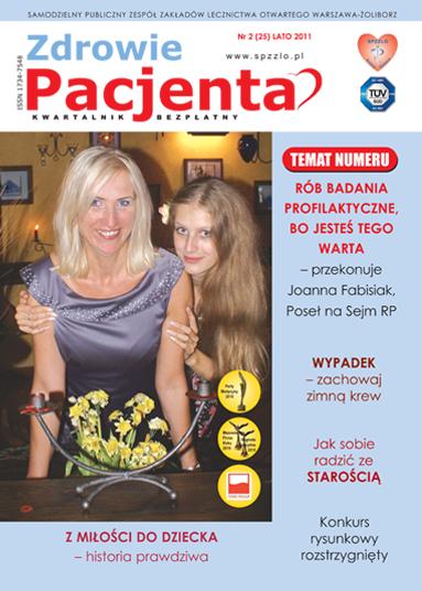Wydanie kwartalnika Zdrowie Pacjenta lato 2011 roku