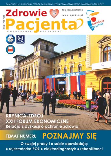 Wydanie kwartalnika Zdrowie Pacjenta jesień 2012 roku