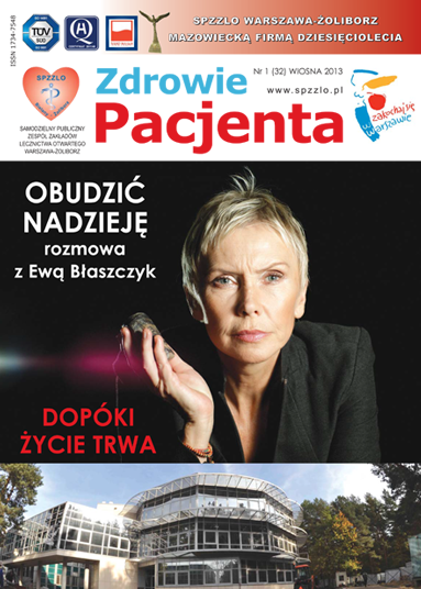 Wydanie kwartalnika Zdrowie Pacjenta wiosna 2013 roku