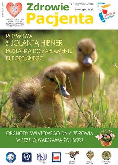 Wydanie kwartalnika Zdrowie Pacjenta wiosna 2014 roku