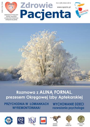 Wydanie kwartalnika Zdrowie Pacjenta zima 2014 roku